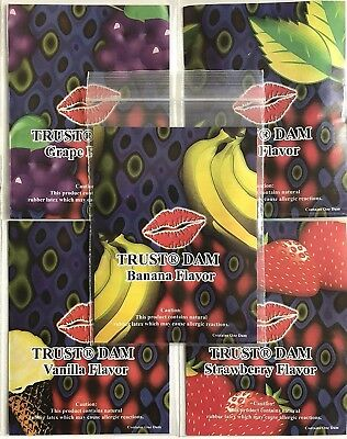 Lixx Line One Trust Assorted Latex Dental Dams   Choose Quantity And Flavor