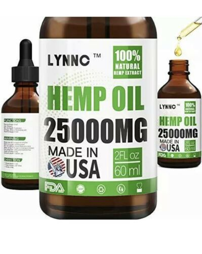 LYNNC Hemp Oil for Anxiety Relief  25000 MG Premium Seed Grade Natural Hemp NEW!