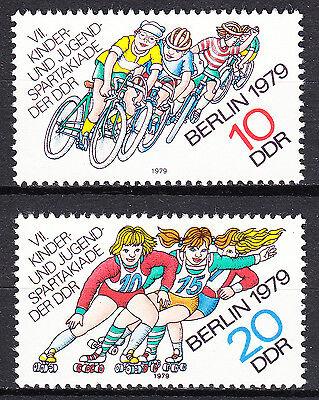 DDR 1979 Mi. Nr. 2433-2434 Postfrisch ** MNH