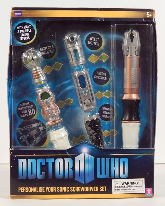 DR WHO Personalise Your Sonic Screwdriver Set (NEW IN BOX / OPEN BOX)