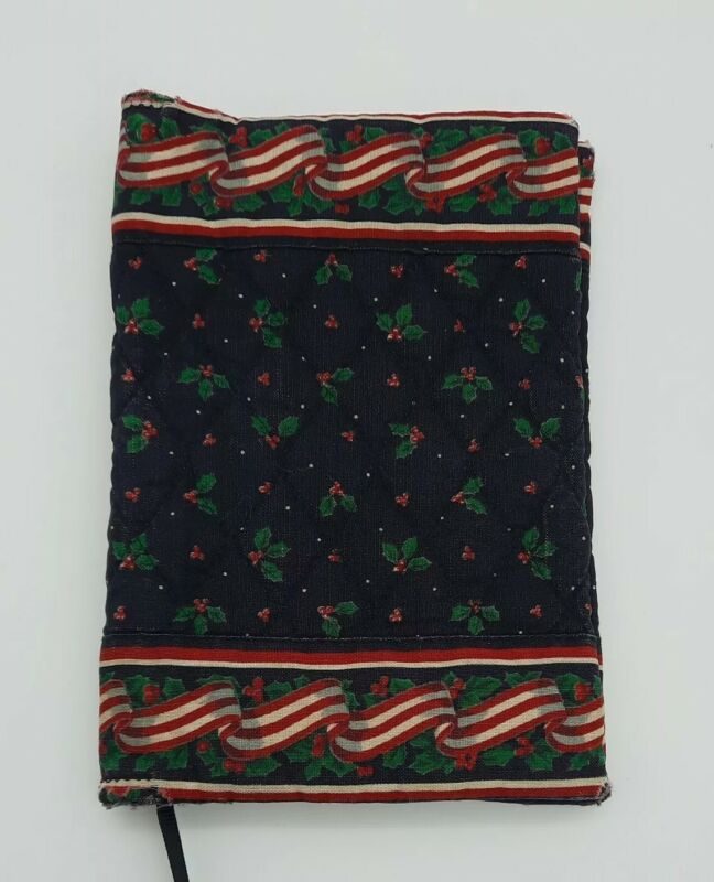 Vera Bradley Holly Ribbons VINTAGE Book Bible Cover with Ribbon Place Holder