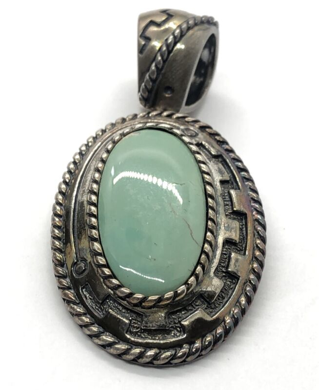 Relios Carolyn Pollack Sterling Silver Necklace 925 Pendant Turquoise Designer