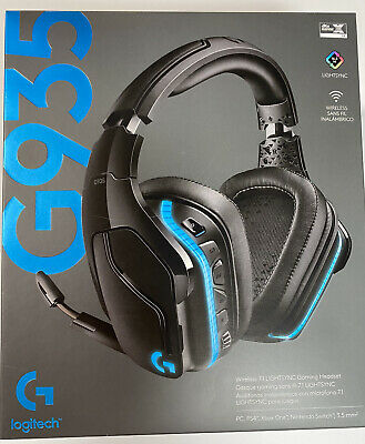 Logitech G935 Wireless 7.1 Surround Lightsync Gaming Headset Black