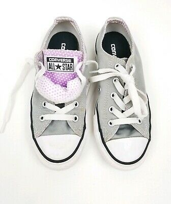 Converse All Star Girls Youth 13 Gray Purple White Polka Dot Shoes ](All Girls Shoes)