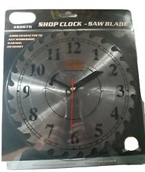 Shop Wall Clock Saw Blade Design Large Print Gift idea Father's Day construction