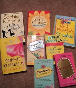 Sophie Kinsella novels. Great condition like new