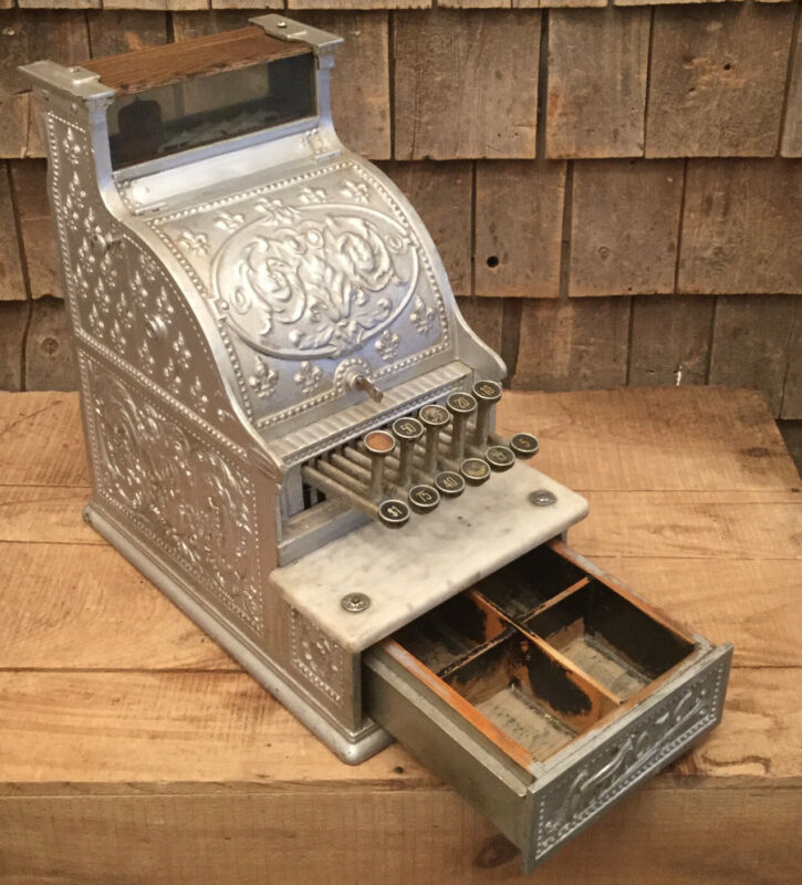 WOW Antique Late 1800s Early 1900s Nickel NATIONAL Country Store Cash Register
