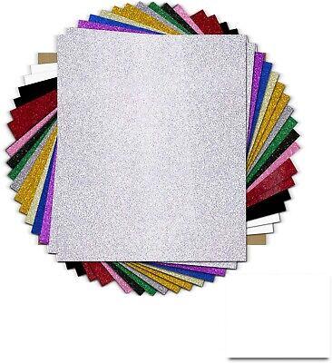 20 Pcs Heat Transfer Vinyl Glitter And Flat 12x10 Sheets T-shirt Htv Bundle