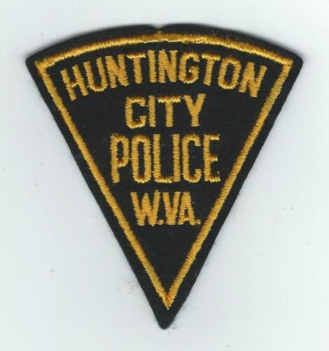 VINTAGE HUNTINGTON, WEST VIRGINIA CITY POLICE (EMBROIDERED ON WOOL/FELT) patch