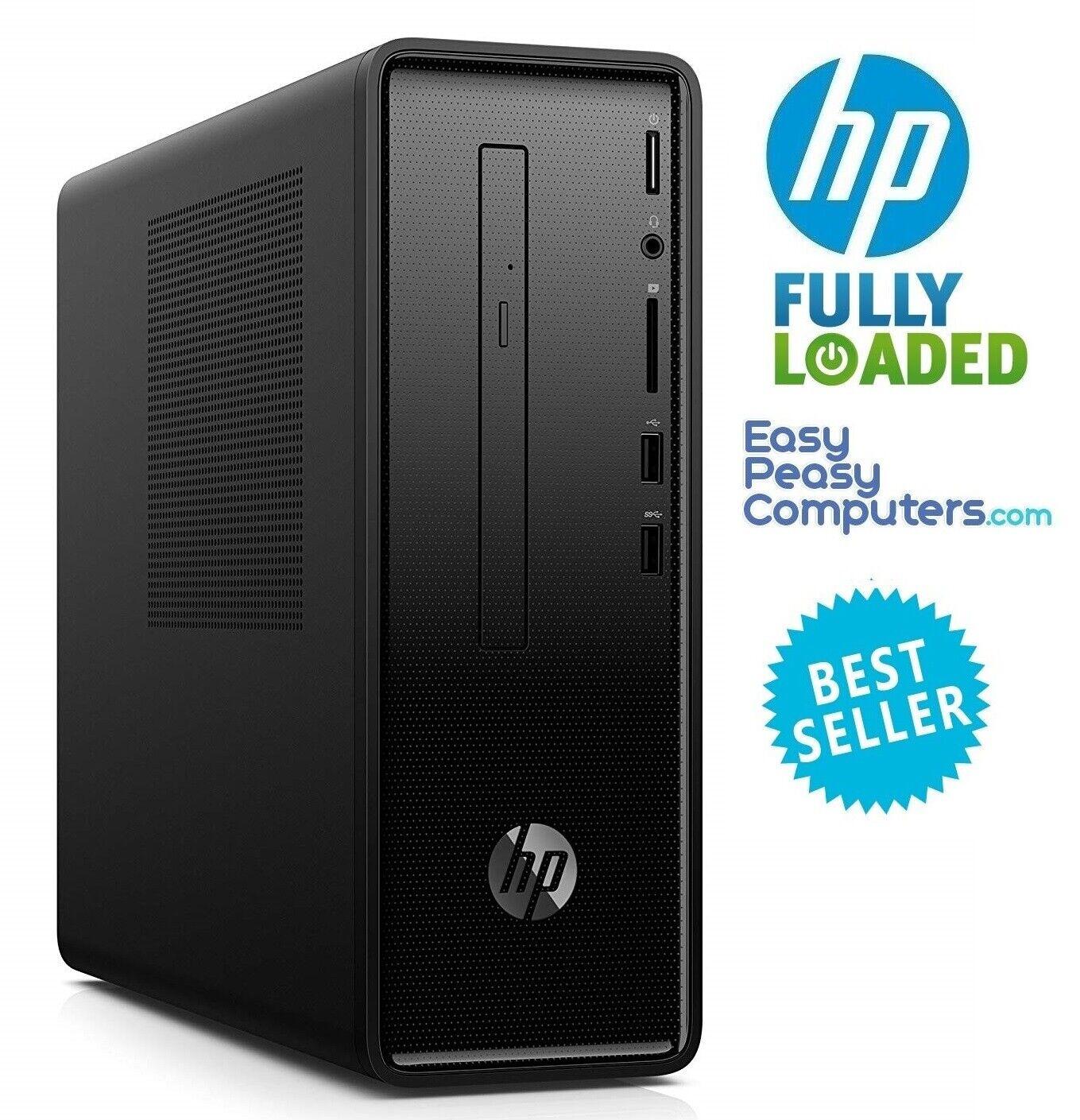 HP Desktop Computer Windows 10 8GB 1TB Bluetooth WiFi DVD+RW
