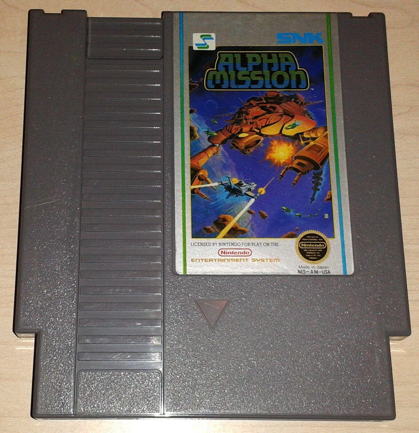 Alpha Mission Nintendo NES Vintage Classic Original Retro Game Cartridge  - $10.99