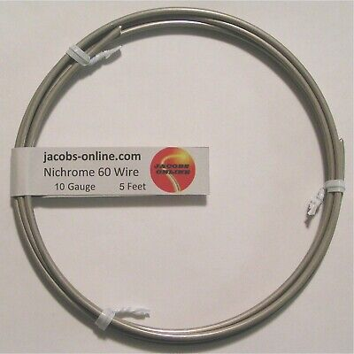 Nichrome 80 Resistance Wire 10 Awg Gauge 5 Feet