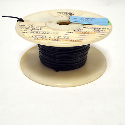 25ft 18awg Black Tfe Teflon 1930 Strand Silver Plate Copper Audio Wire Mil Spec