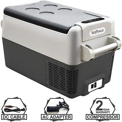 31Qt Portable Fridge Freezer Car Refrigerator Electric Cooler Camping Outdoor