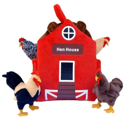 "ADORE 12"" Hen House Chicken Coop Plush Stuffed Animal Playse"