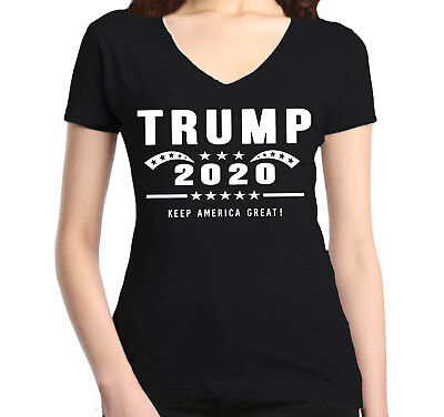 Trump 2020 Keep America Great ! Women's V-Neck T-shirt Donald Political Tee America Womens V-neck T-shirt