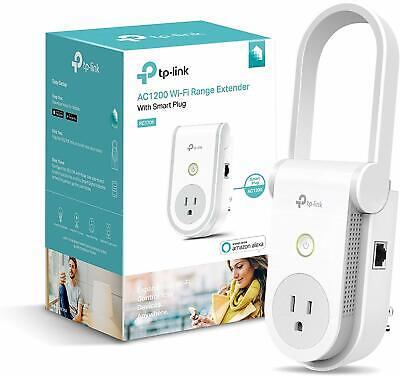 TP-Link AC1200 Wi-Fi Network Range Extender with Smart Plug RE370K - White