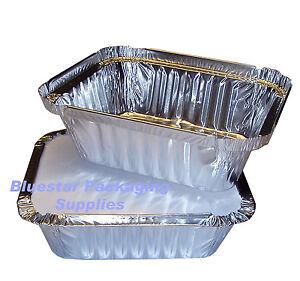 100-x-No2-Takeaway-Aluminium-Foil-Food-Containers-Lids