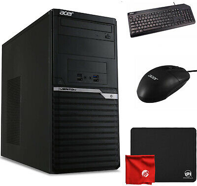 Acer VM4660G Intel i3-8100 4GB RAM 500GB HDD Win10 Pro Desktop Computer Bundle