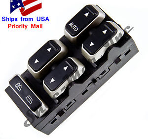 Sm1707 master power window switch lincoln town car 2003 2008 for 1999 lincoln town car window switch