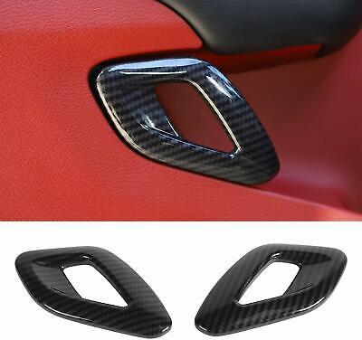 Carbon Fiber Inner Door Handle Cover Trim Accessories for Dodge Challenger 2015+