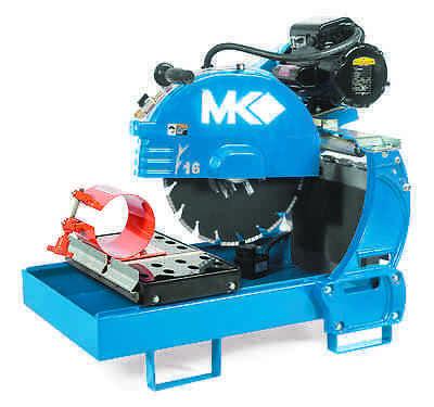 "16"" MK Diamond Electric Saw MK-2002-16 Core Cut Lab 6"" Sample Clamp Testing"