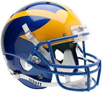 DELAWARE BLUE HENS Schutt AiR XP Full-Size REPLICA Football (Blue Replica Football Helmet)