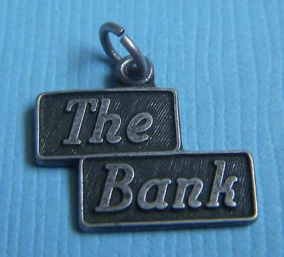 Vintage  The Bank  Sterling Charm