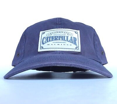 Authentic Caterpillar Machines Patch Logo Navy Blue Baseball Cap Hat Ash Men CAT for sale  Los Banos