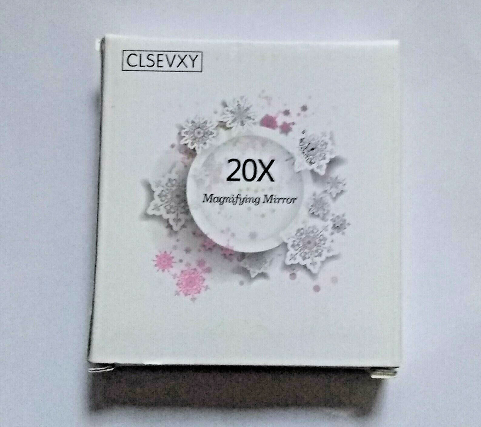 """New portable 20X Magnifying Mirror 4"""" diameter w 3 Suction C"""