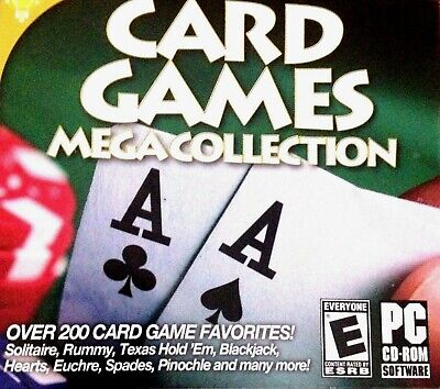 Computer Games - Card Games Mega Collection PC Games Window 10 8 7 XP Computer crazy eights spade
