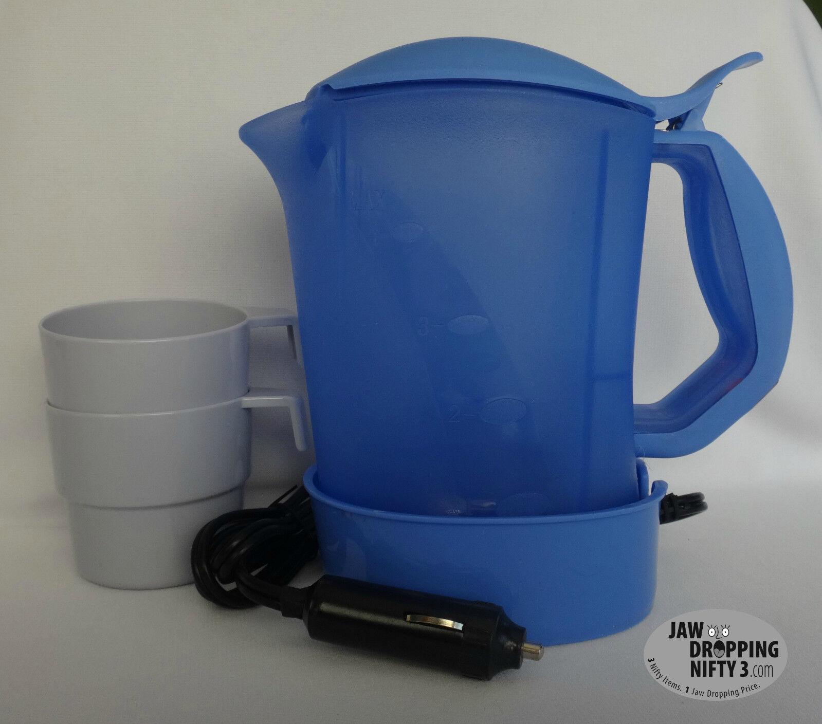 12v portable 4 cup coffee maker hot water pot car boat - Portable coffee maker for car ...