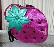 Betsey Johnson Strawberry Large Insulated Lunch Tote Bag Crossbody Diaper NWT