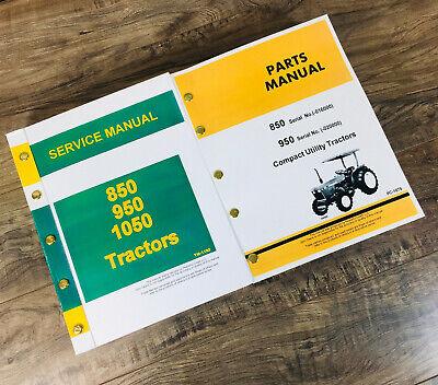 Service Manual For John Deere 850 950 Tractor Service Repair Parts Catalog Shop