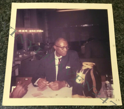SUNNYLAND SLIM-ORIG KODACHROME COLOUR PHOTOGRAPH 1965 - 91mm x 89mm-SUPERB
