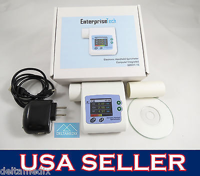Medical Spirometer Digital Lung Volume Device Forced Vital Capacity Software