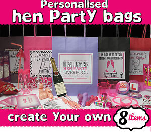 Hen night party gift bag filled create your own Make your own hen house
