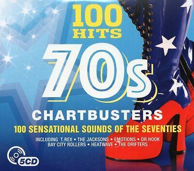 100 Hits 1970s Chartbusters (5xCD) David Essex/Leo Sayer/Tina Charles/Baccara +