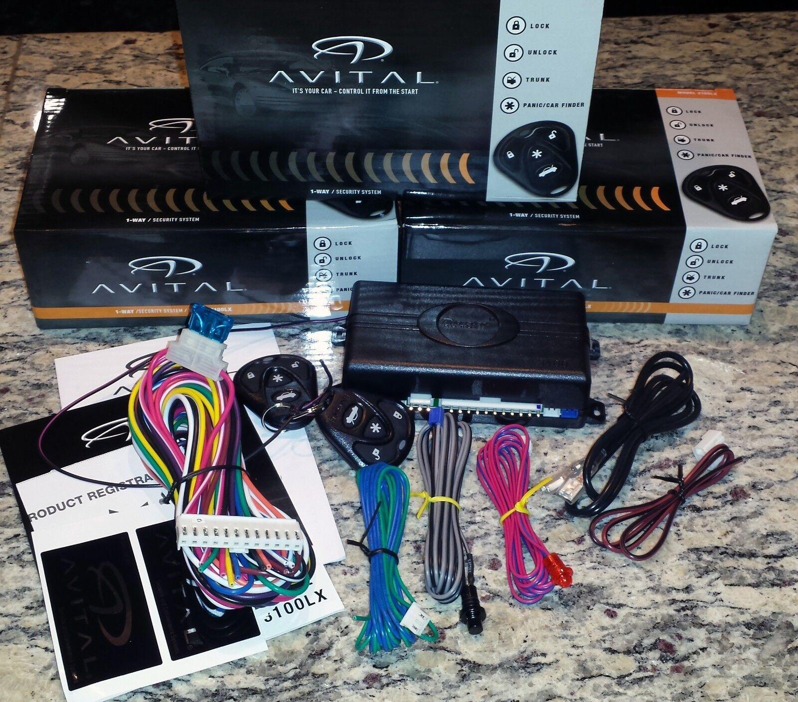 Avital 3100lx 3 Channel Car Alarm System W 2 Remotes And Keyless 3100 Wiring Diagram Entry