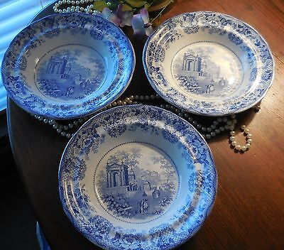 Vintage Robinson And Wood Venetian Scenery Stone China Rimmed Bowls  3