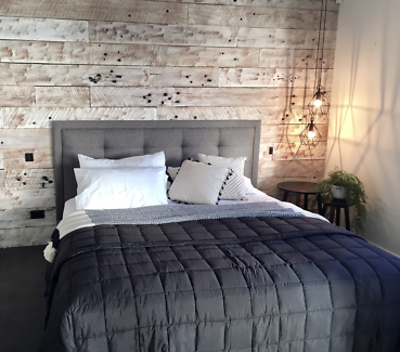 Feature Wall Cladding, DIY System - White-Washed Recycled Timber