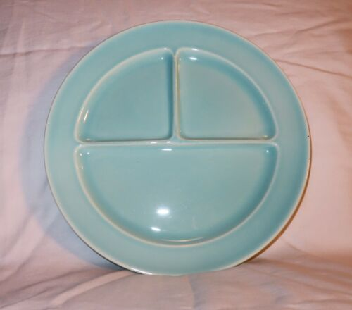 Green LuRay Pastels 3 Compartment Divided Grill Plate T.S.&T. Taylor