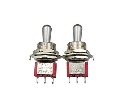 2pcs Toggle Switches T8014-zbq On-off- On Big Short Handle Spdt