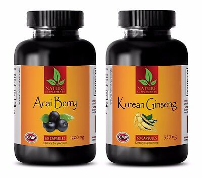 Energy boost minerals - ACAI BERRY - KOREAN GINSENG COMBO - 2B - red maca extrac