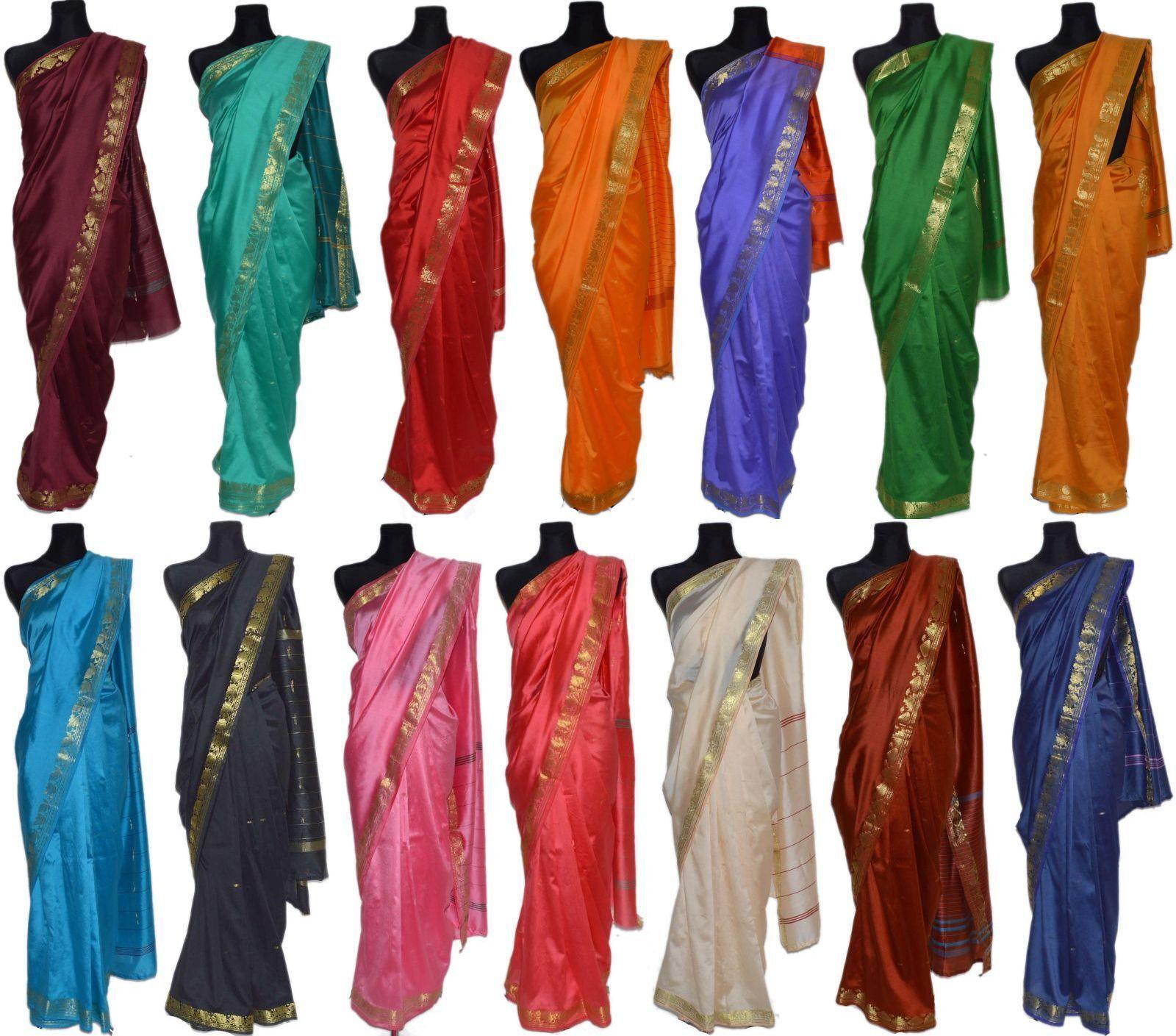 Sari Saree Kleider Indien Hochzeit Orientalisch Karneval Brokat Bollywood Orient