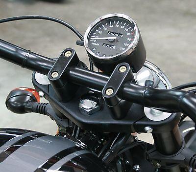 Cafe Racer Brat Scrambler Project Motorcycle Bike Speedo Clock Black MPH