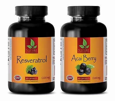Antioxidant boost - RESVERATROL – ACAI BERRY COMBO - red wine pills