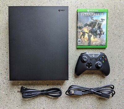 Microsoft Xbox One X 1TB Console (1787) -- OEM Controller & Cables, Titanfall 2