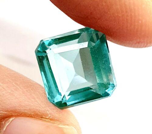 Green Sapphire Emerald Shape Faceted GGTL Certified Loose Gemstone SH 965