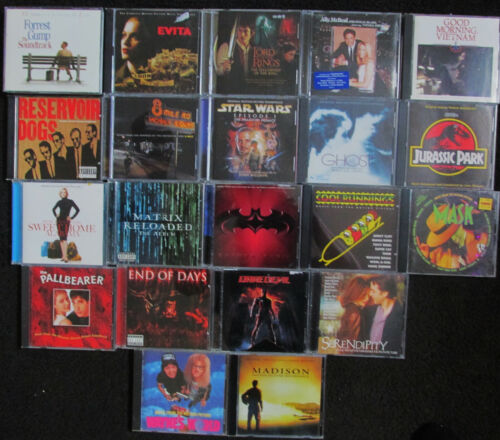 lot of 21 Soundtrack CDs in VG Cond. New Jack City etc.  FREE SHIPPING